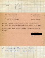Telegram from James Troutman to Robert Dunfield Oak Island Motel 9-5-1965