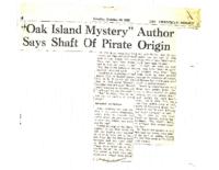 The-Chronical-Heralrd-Oct-19-1965-Oak-Island-Mystery-Author