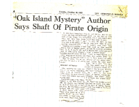 The-Chronical-Heralrd-Oct-19-1965-Oak-Island-Mystery-Author