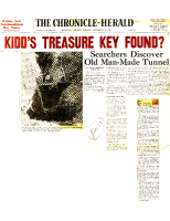 The Chronical Herald Nov 5 1965 Kidds Treasure Key Found – Scrapbook Page 12