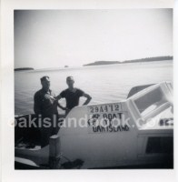 James Troutman and Bill Sawler on Oak Island Boat