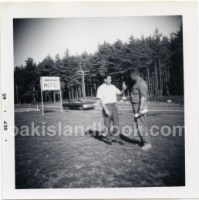 Robert Dunfield and James Troutman Outside Oak Island Motel